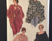 Vintage Vogue Evening shawls and   cocoon jacket, uncut, factory folded