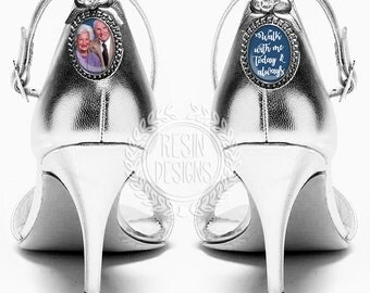 Wedding Shoe Charms, Personalized Bridal Shoe Charms, Custom Charm, Memorial Shoe Charm, Something Blue, Picture Photo Charms, Photo Charms