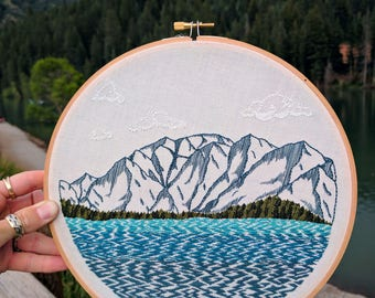 Embroidered Lake Tahoe Mt. Tallac