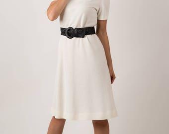 Vintage Vanilla Cream Dress (Size Medium)