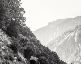 Wandering; fine art photography, modern, wall art, wall decor, black and white, photo, lake house art, wanderlust, Yosemite, by F2images