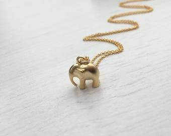 Elephant Necklace,Good Luck necklace,chubby elephant necklace,tiny elephant necklace,spiritual necklace,gift for her,gift under 25