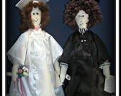 2 in 1 Anna & James Graduation Dolls Combo E-Pattern