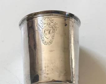 Ca 1810 French Sterling Silver beaker - 950 Silver