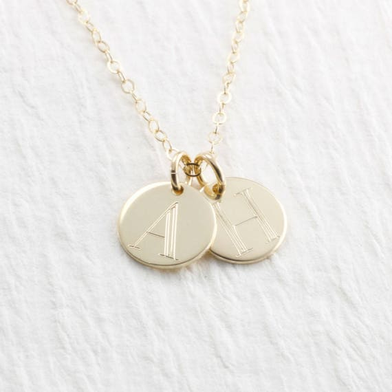 14k gold initial pendant necklace 14k gold charm initial like this item aloadofball Image collections