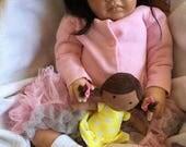 READY-TO-SHIP Stunning Reborn Doll Rowan Biracial Ethnic Baby Girl Hazel Eyes