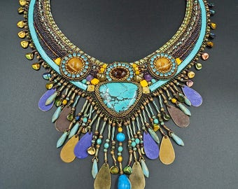 Turquoise amber necklace