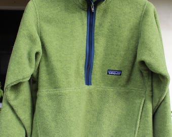 VINTAGE Patagonia Synchilla XS Fleece Jacket - 3/4 zip - Kangaroo pockets