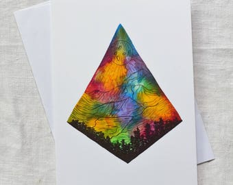 CARD - Moon & Mountain