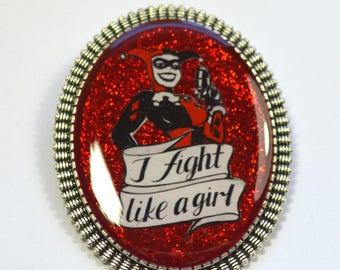 Harley Quinn Classic Costume Geeky Feminist Resin Brooch
