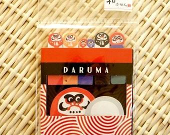 Kawaii Japanese Washi Memo Point Marker - Japanese Daruma Doll