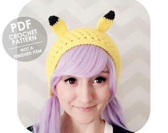 crochet pattern - pikachu headband - pokemon headband - crochet pikachu headband - crochet headband pattern - crochet headband