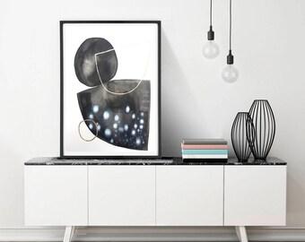 Large geometric abstract minimalist painting,  original painting ,black and white, modern wall art, abstract modern minimalist
