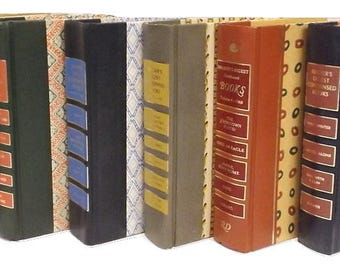 Readers Digest Condensed Books, CHOOSE YOUR AMOUNT 5-25, Decorative Pattern Covers, Instant Library, Home Decor, Craft Supplies, Journaling