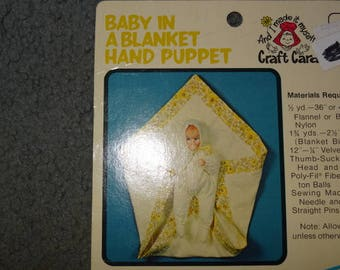Baby in a Blanket Hand Puppet Doll Pattern New Uncut