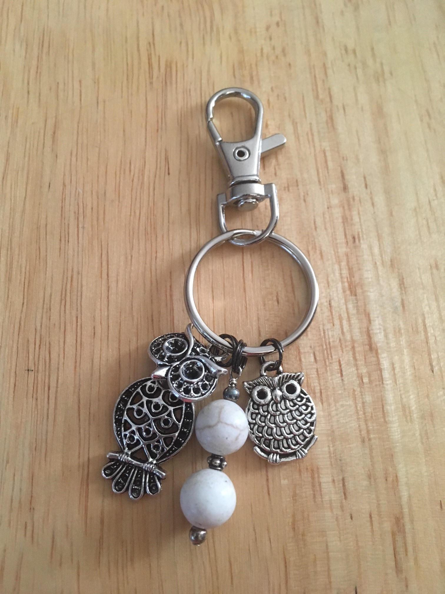 Keychains Lightupcircuitboardkeychain Owl Keychain Metal Charm