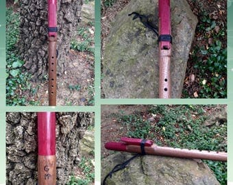 Native American Style Flute in G, Black Walnut and Purpleheart