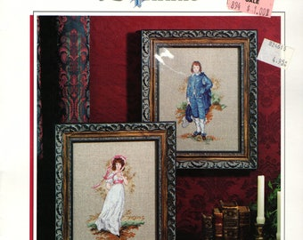 Blue Boy and Pinkie Cross Stitch Patterns Gainsborough and Lawrence Regency Portraits To Embroider Full Color Charts Classic Artists
