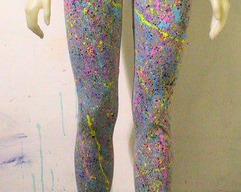 One of a Few BLIM! Grey Splatter Leggings