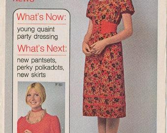 Simplicity January 1970 Sewing Pattern Advertising Booklet - Fashion History, Ephemera, Collage, Boho, Leaflet, Catalog - GOOD Shape