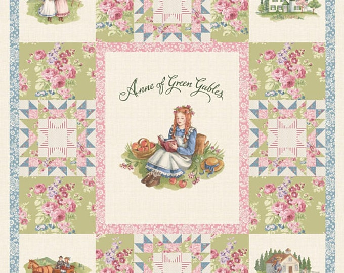 ANNE of GREEN GABLES, Cotton Digitally Printed Panel 36 x 42 inches by Penny Rose Fabrics for Riley Blake Designs