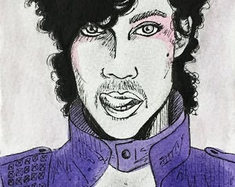 Prince Mini Ink Drawing