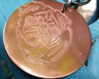 Pug keychain,  The Pet Collection keychain, Pug owner gift,  Memorial keychain , Pug etched copper keychain, Pug love