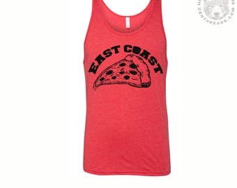 Unisex East Coast PIZZA Mens Tank Top -hand screen printed xs s m l xl xxl (+ Colors) workout