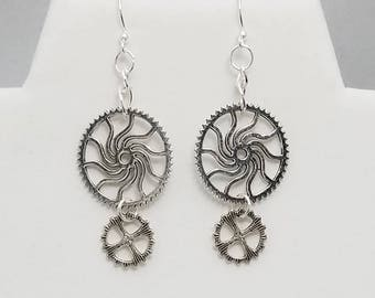 Spinning Gears Earrings