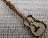 Vintage Sterling Silver and Enamel Guitar Charm