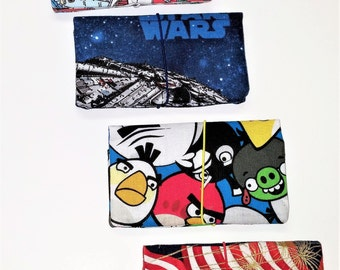 Credit, Gift, Loyalty, Business Card Holder Pocket Wallet, Star Wars, Angry Birds, Blondie, American Flag,