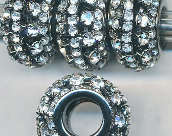 FAB 13x24 RHINESTONE BEADS Large Hole   1 Bead