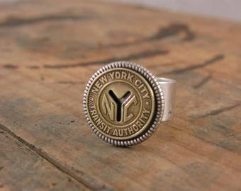 Transit Token Jewelry - Coin Jewelry - Coin Ring - New York Subway Token Ring