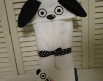 Doggy hooded bath towel