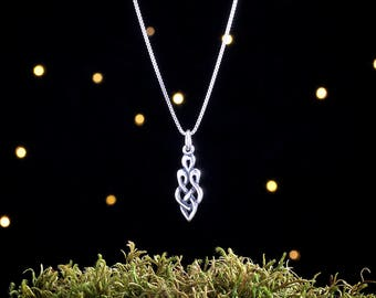 Sterling Silver Celtic Goddess Knot - Small - (Charm, Necklace, or Earrings)