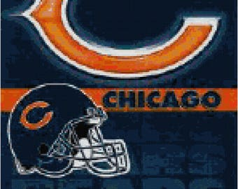 NFL Chicago Bears Banner Counted Cross Stitch Pattern