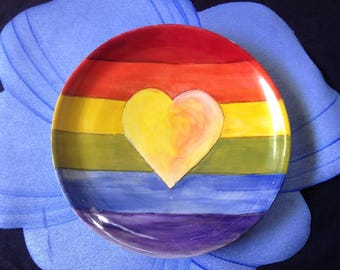 Rainbow Heart Bowl
