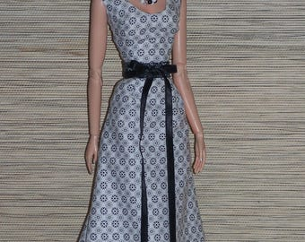 Promenade* Maxidress Ooak for Sybarite dolls/ Tonner/ Fashion Royalty 16'/ by L'Atelier de Rosy