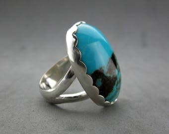 Turquoise Sterling Silver Ring, size 8