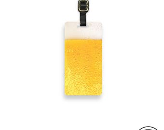 Luggage Tag Pint of Beer Personalized Metal Luggage Tag Glass of Beer Luggage Tag - Metal Tag Luggage Tag Personalized, Single Tag