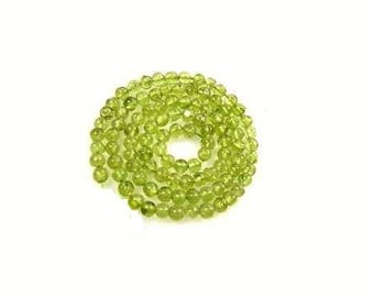 2MM Genuine Peridot  Gemstone Beads ,  15.5 Inch Strand