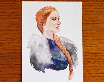 Queen in the North Small Art Print
