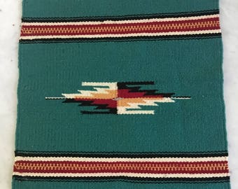 Vintage Chimayo Weaving Southwestern Woven Textile Wall Hanging Geometric