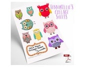 Owls That! Digital Collage Sheet by Jennibellie