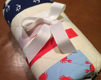 Nautical Baby Quilt -- Read to ship