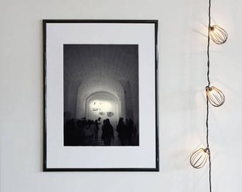 LIGHT EFFECTS | instant download, printable wall art, black and white architecture, ethereal, surreal, minimal, shadow, photo, silhouette