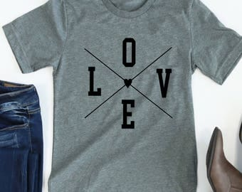 LOVE Valentine's Day Shirt // Valentine's Day Tee // LOVE tee // Love shirt // Women's Valentine's Day Tee