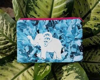 Baby Elephant Botanical Pouch