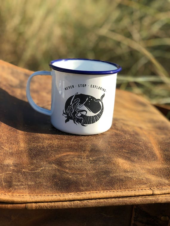 Whale & Mermaid 2017 - Etched Enamel Mug