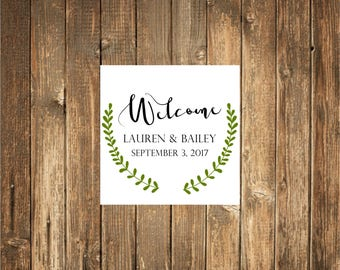 Welcome Bag Stickers, Favor Stickers, Wedding Favor Stickers,  Favor stickers, Welcome Stickers